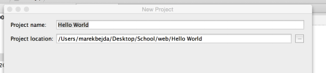 Step 2. Setting the Project name