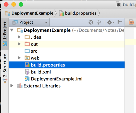 Root Directory with build.xml and build.properties