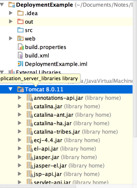 Find the Tomcat libraries
