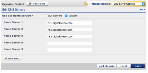 DNS Server Settings