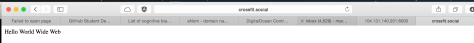DNS Configured.. We can access the page