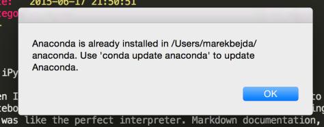 Installation error previous version of Anaconda.